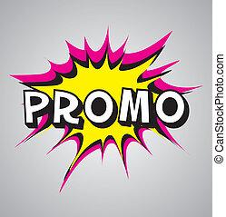 Comic book explosion bubble - promo