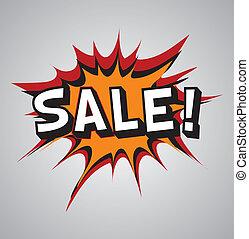 Comic book explosion bubble - sale