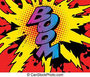 comic book boom explosion
