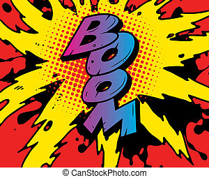 comic book explosion - comic book boom explosion