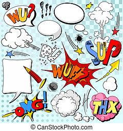 Comic book explosion - Comic book explosion for your design...