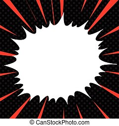 Comic book explosion superhero pop art style radial lines background. Manga or anime speed frame
