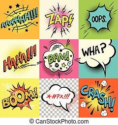 Comic Book Expressions!A set of comic book speech bubbles...