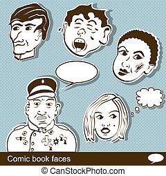 Comic book heads