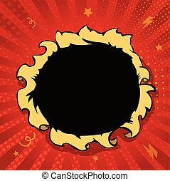 Comic book hole, boom explosion vector illustration