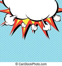 Comic book illustration.