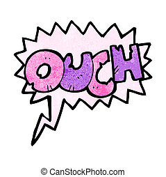 comic book ouch sign