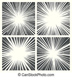 Comic book radial lines, stripes background