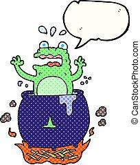 comic book speech bubble cartoon funny halloween toad -...