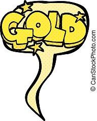 comic book speech bubble cartoon word gold