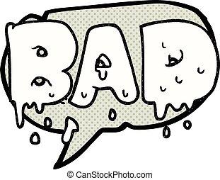 comic book speech bubble cartoon word bad