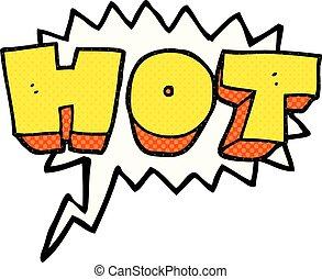 comic book speech bubble cartoon word hot