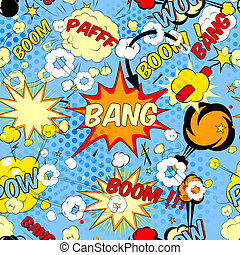 comic book speech bubbles - Seamless pattern background with...
