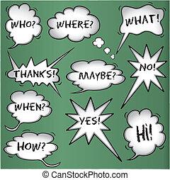 Comic book speech bubbles