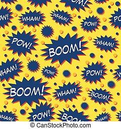 Comic Book Speech Bubbles Pattern