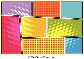 Comic book storyboard style pop art