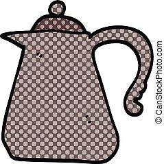 comic book style cartoon kettle