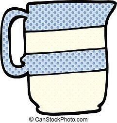 comic book style cartoon milk jug