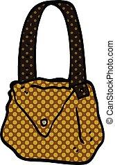 comic book style cartoon satchel