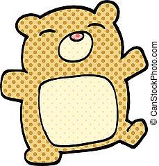 comic book style cartoon teddy bear