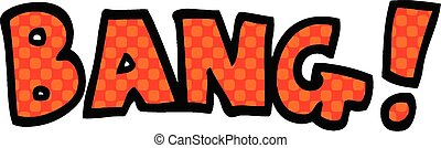 comic book style cartoon word bang