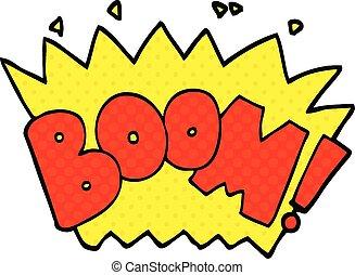 comic book style cartoon word boom