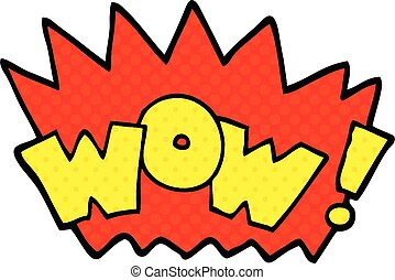 comic book style cartoon word wow