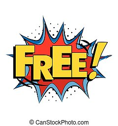 Comic Book Style Word Free White Background Vector Image