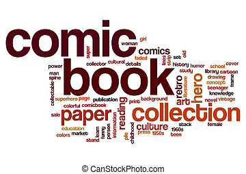 Comic book word cloud concept