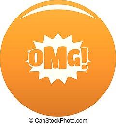 Comic boom omg icon vector orange - Comic boom omg icon....