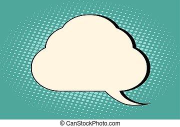 Comic bubble cloud silhouette