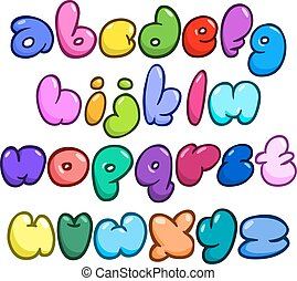 Comic bubble lower case alphabet
