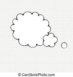 Comic bubble symbol