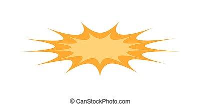 Comic Burst Banner - Abstract Retro Comic Burst Effect...