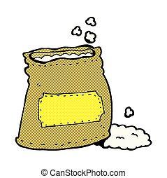 comic cartoon bag of flour