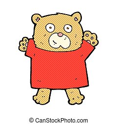 comic cartoon cute teddy bear