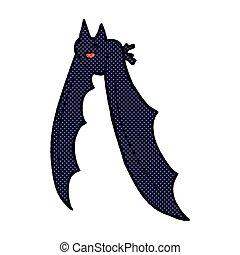 comic cartoon flying bat