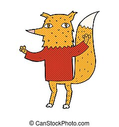 comic cartoon fox