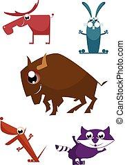 Comic cartoon funny animals
