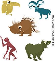 cartoon funny animals