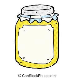 comic cartoon jar of honey - retro comic book style cartoon...