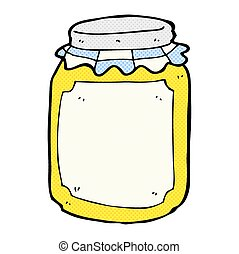 comic cartoon jar of honey - retro comic book style cartoon ...
