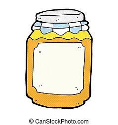 comic cartoon jar of marmalade