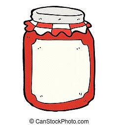comic cartoon jar of preserve