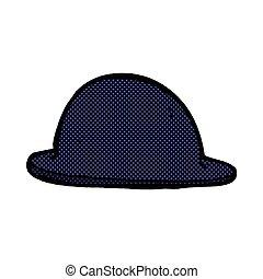 comic cartoon old bowler hat