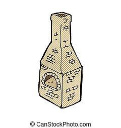 comic cartoon old stove chimney