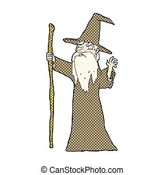 comic cartoon old wizard
