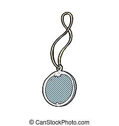 comic cartoon pendant necklace - retro comic book style...