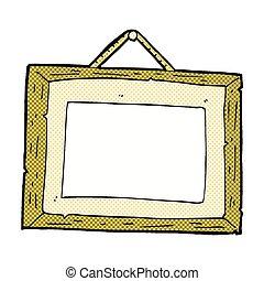 comic cartoon picture frame - retro comic book style cartoon...