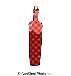 comic cartoon posh bottle - retro comic book style cartoon...